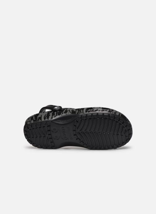 Sandalias Crocs Classic Printed Camo Clog Negro vista de arriba