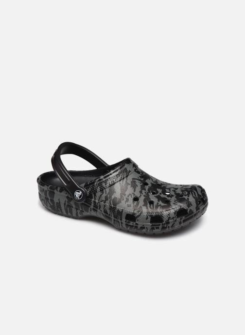 Sandalias Crocs Classic Printed Camo Clog Negro vista de detalle / par