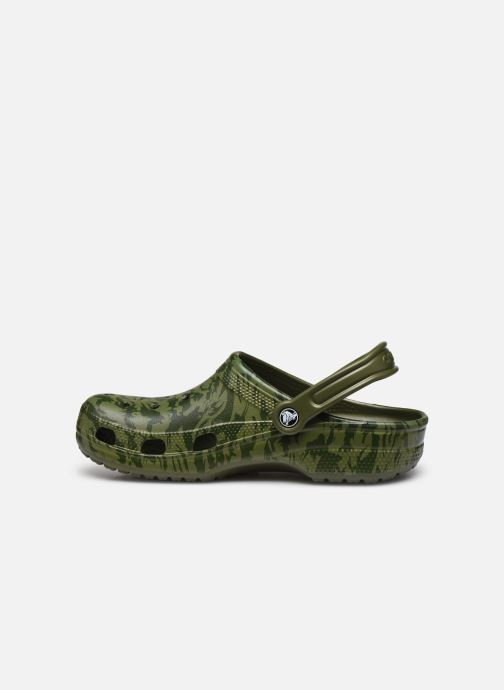 Sandales et nu-pieds Crocs Classic Printed Camo Clog Vert vue face