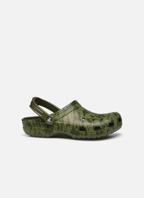 Sandales et nu-pieds Crocs Classic Printed Camo Clog Vert vue derrière