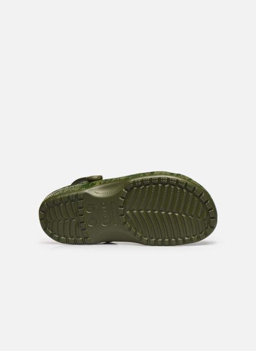 Sandales et nu-pieds Crocs Classic Printed Camo Clog Vert vue haut
