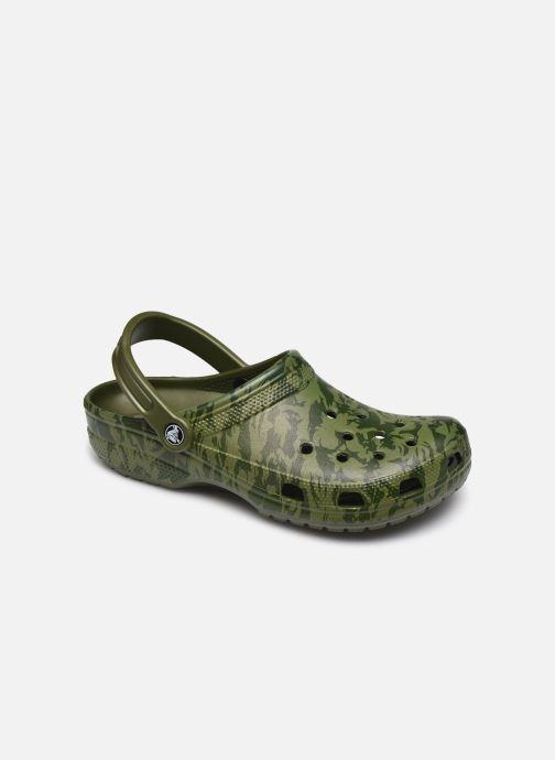 Sandales et nu-pieds Crocs Classic Printed Camo Clog Vert vue détail/paire