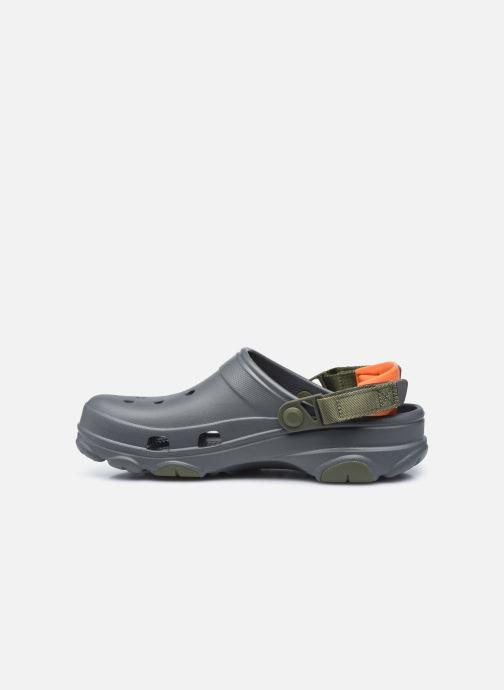 Sandalias Crocs Classic All Terrain Clog Gris vista de frente
