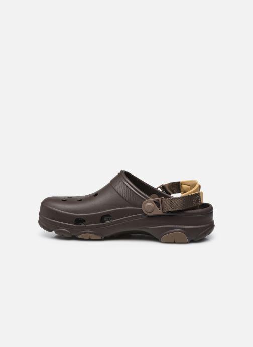 Sandales et nu-pieds Crocs Classic All Terrain Clog Marron vue face