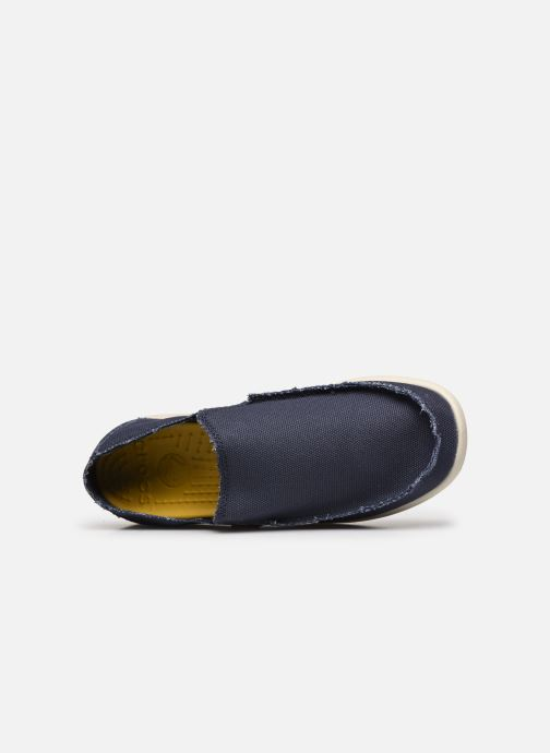 Loafers Crocs Santa Cruz Mens Blue view from the left