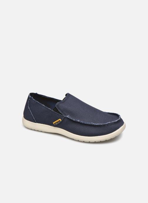 Mocassins Crocs Santa Cruz Mens Blauw detail