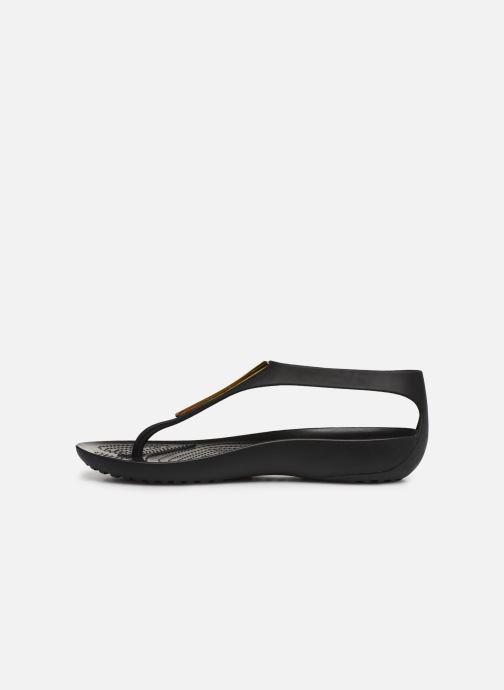 Sandales et nu-pieds Crocs Crocs Serena Metallic Bar Fp W Noir vue face