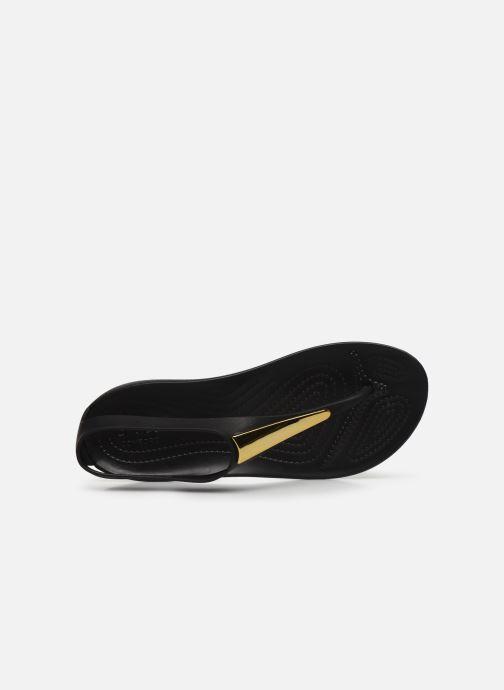 Sandales et nu-pieds Crocs Crocs Serena Metallic Bar Fp W Noir vue gauche
