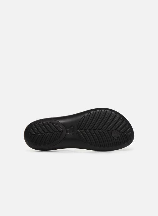 Sandales et nu-pieds Crocs Crocs Serena Metallic Bar Fp W Noir vue haut