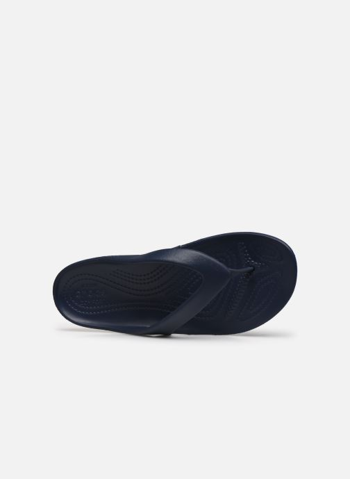 Chanclas Crocs Kadee II Flip W Azul vista lateral izquierda