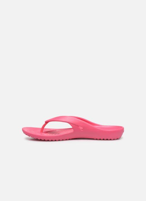 Zehensandalen Crocs Kadee II Flip W rosa ansicht von vorne