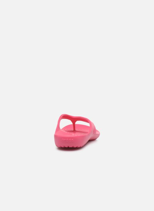 Zehensandalen Crocs Kadee II Flip W rosa ansicht von rechts