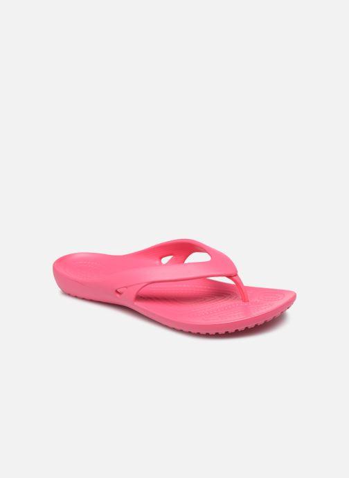 Chanclas Crocs Kadee II Flip W Rosa vista de detalle / par