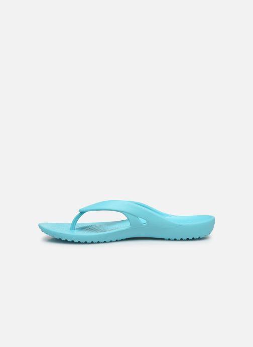 Zehensandalen Crocs Kadee II Flip W blau ansicht von vorne