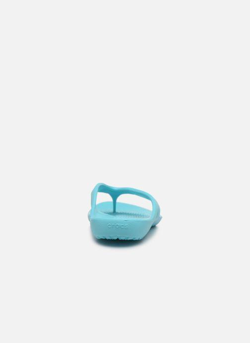 Chanclas Crocs Kadee II Flip W Azul vista lateral derecha