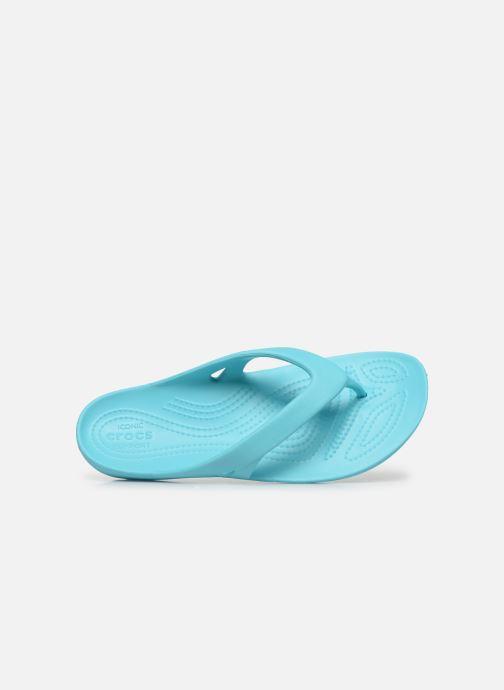 Tongs Crocs Kadee II Flip W Bleu vue gauche