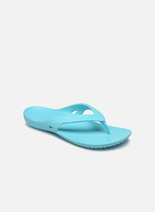 Tongs Crocs Kadee II Flip W Bleu vue détail/paire