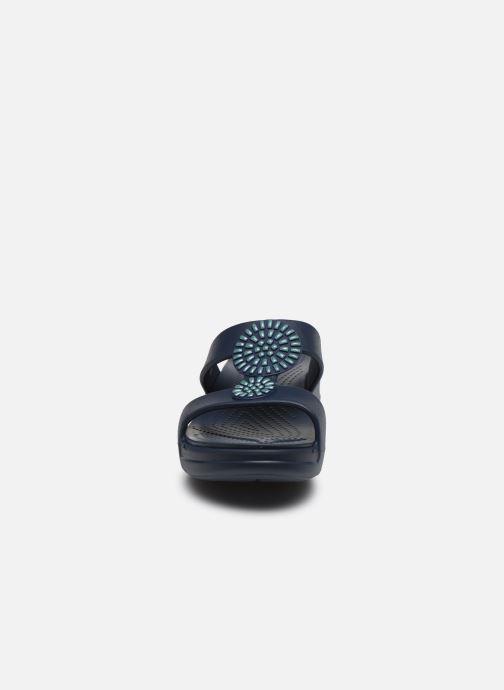 Zoccoli Crocs Crocs Monterey Diamante Wedge W Azzurro modello indossato