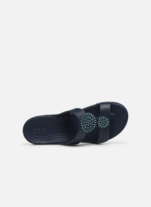 Zoccoli Crocs Crocs Monterey Diamante Wedge W Azzurro immagine sinistra