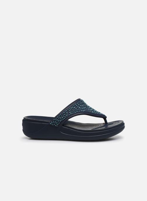 Chanclas Crocs Crocs Monterey Diamante WdgFp W Azul vistra trasera