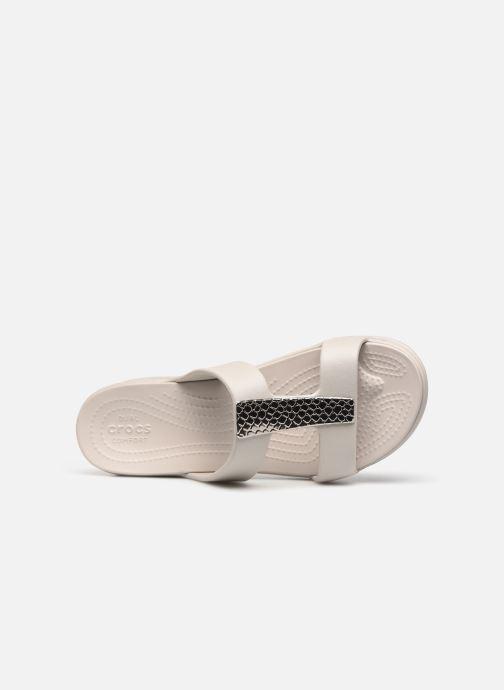 Wedges Crocs Crocs Monterey Metallic Wedge W Zilver links