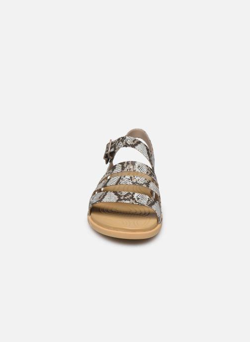 Sandali e scarpe aperte Crocs Crocs Tulum Sandal W Marrone modello indossato