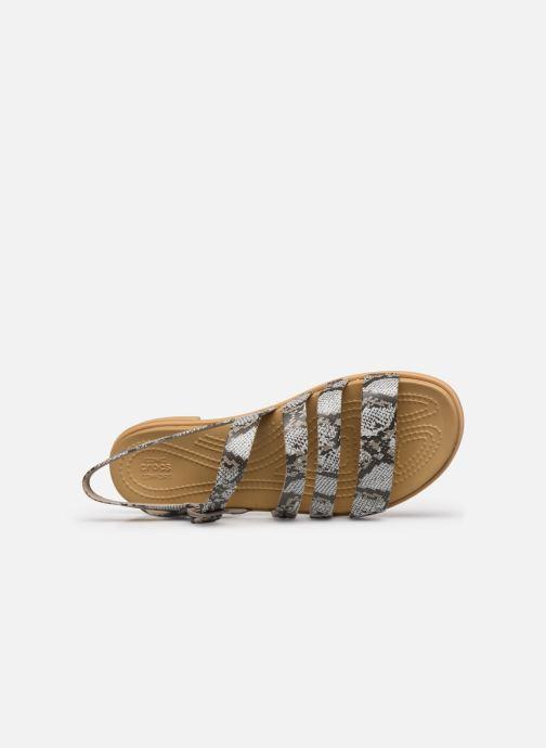 Sandali e scarpe aperte Crocs Crocs Tulum Sandal W Marrone immagine sinistra