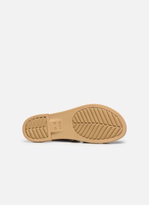 Sandali e scarpe aperte Crocs Crocs Tulum Sandal W Marrone immagine dall'alto
