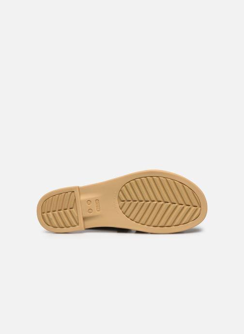 Sandali e scarpe aperte Crocs Crocs Tulum Sandal W Nero immagine dall'alto
