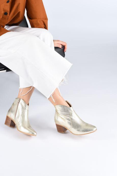 Stiefeletten & Boots Georgia Rose Cerra gold/bronze ansicht von unten / tasche getragen