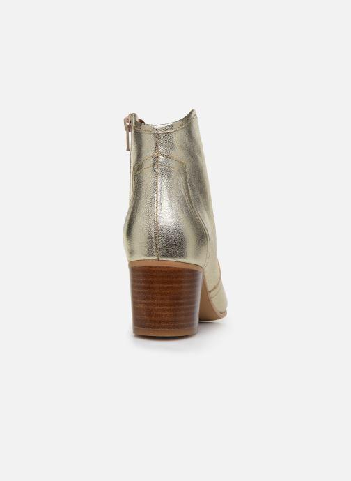Boots en enkellaarsjes Georgia Rose Cerra Goud en brons rechts