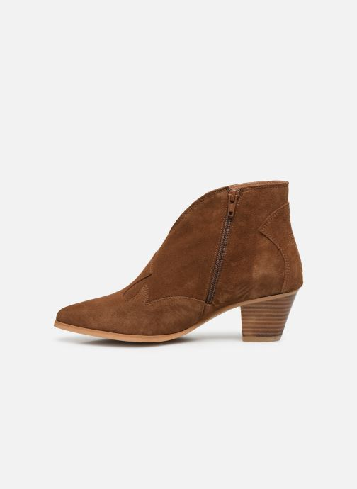 Bottines et boots Georgia Rose Costina Marron vue face