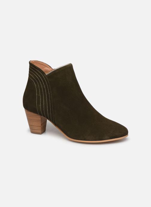 Bottines et boots Georgia Rose Celinia Vert vue détail/paire