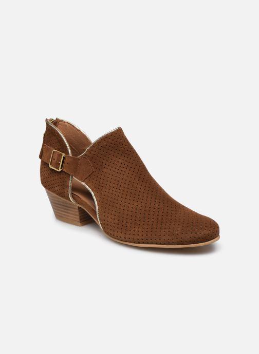 Bottines et boots Georgia Rose Calima Marron vue détail/paire