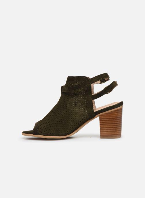 Sandales et nu-pieds Georgia Rose Calita Vert vue face