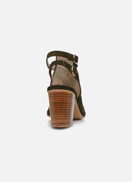 Sandales et nu-pieds Georgia Rose Calita Vert vue droite