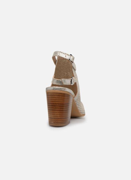 Sandales et nu-pieds Georgia Rose Calita Or et bronze vue droite