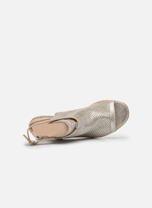 Sandales et nu-pieds Georgia Rose Calita Or et bronze vue gauche