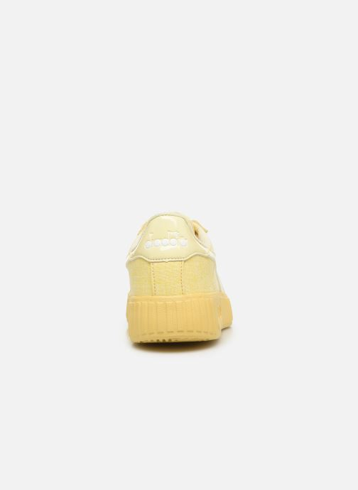 Trainers Diadora Game Step Cv Yellow view from the right