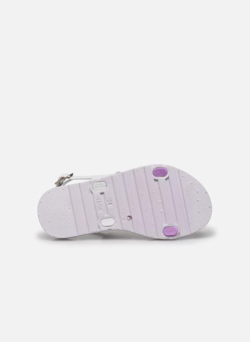 Sandales et nu-pieds Be Only Eléa Blanc vue haut