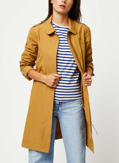 Vêtements Scotch & Soda Classic trench coat with special detailing Beige vue détail/paire