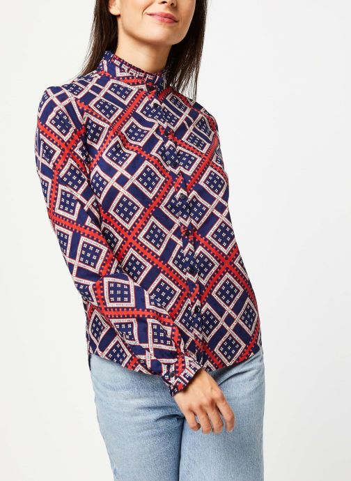 Vêtements Scotch & Soda Cotton allover printed shirt Bleu vue droite