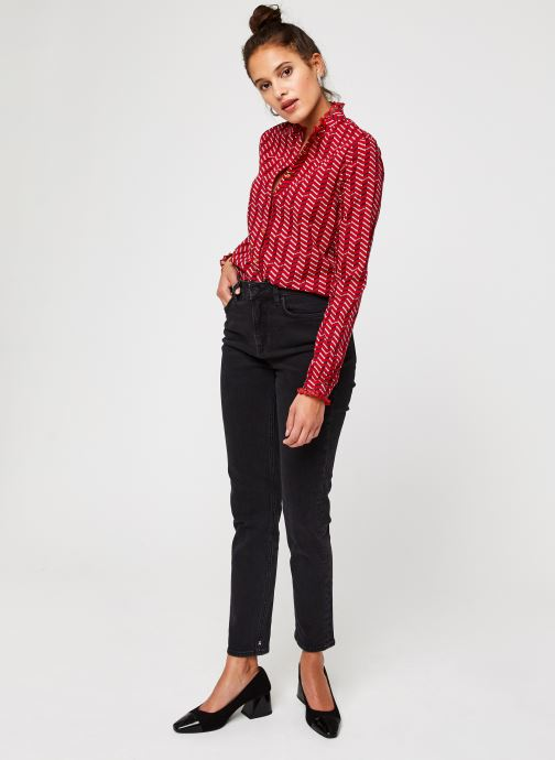 Vêtements Scotch & Soda Cotton allover printed shirt Rouge vue bas / vue portée sac