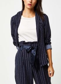 Drapey blazer in printed pin stripe