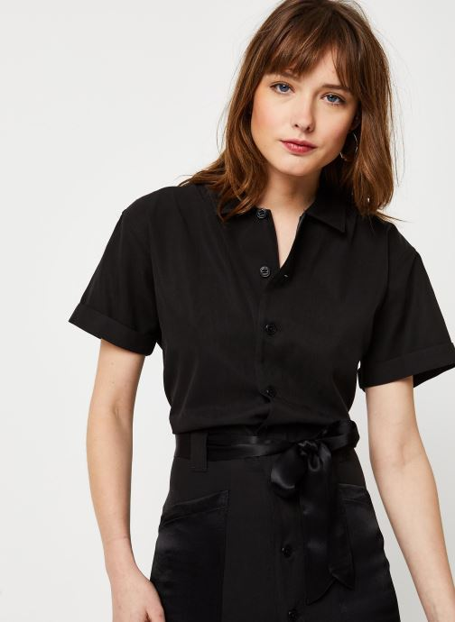 Vêtements Scotch & Soda Utility all-in-one in mixed quality Noir vue face