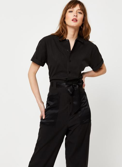 Vêtements Scotch & Soda Utility all-in-one in mixed quality Noir vue détail/paire