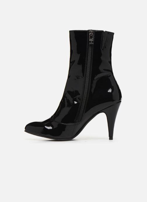 Bottines et boots Tommy Hilfiger ELEVATED PATENT BOOTIE Noir vue face