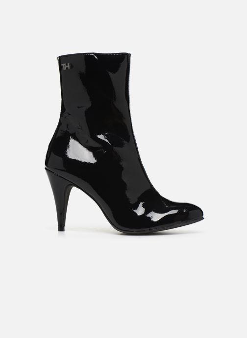 Bottines et boots Tommy Hilfiger ELEVATED PATENT BOOTIE Noir vue derrière