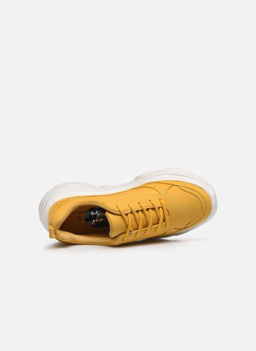 Deportivas I Love Shoes THOLEO Amarillo vista lateral izquierda
