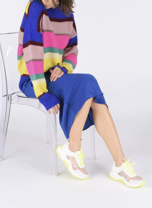 Baskets I Love Shoes THOSSY Blanc vue bas / vue portée sac
